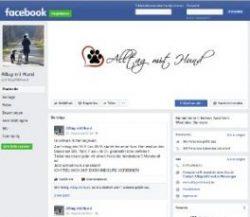 Facebook-Seite Alltag mit Hund